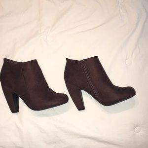Brown Booties size 7